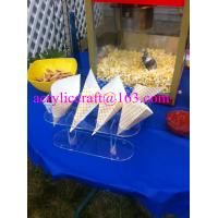 China 4 Holes Transparent Acrylic Popcorn Cone Display Stand on sale