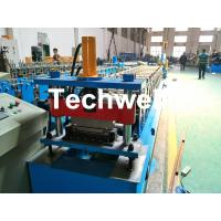 Quality Aluminium , PPGI Standing Seam Cold Roll Forming Machine With Hydraulic Cutting Type for sale