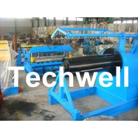 Quality Q235 / Q350 0.2 - 2.0mm Carbon Steel, Color Steel Simple Slitting Cutting Machine Line for sale