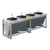 Quality Single row liquid to air glycol dry water cooler for outdoor refrigeration for sale