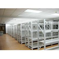 Quality Light Duty 4 Levels Commercial Metal Racking Q235B Grey / Orange / Blue Color for sale