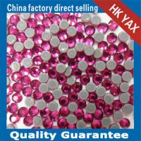 China Fuchsia YAX High Quality Wedding Dress Crystal Stones Wholesale Crystal Stones Hotfix Transfer Stones Crystal on sale