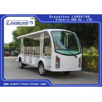 China Battery Operated 4 Wheel Electric Shuttle Bus 48V Motor Suits For Transportation on sale