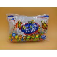 Quality Fruit Flavors Brochette Sugar Free Peppermint Candy / Round Shape Compressed Candy for sale