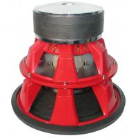 Red 5000W Competition Car Subwoofers Pulp With Mica Foam Cone for sale