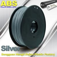 Quality High strength ABS 3d Printer Filament 1.75mm Silver Filament Materials for sale