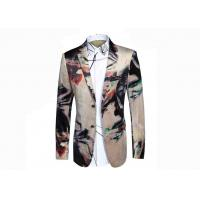 Quality Creative Colors Mens Printed Suits , Digital Printing Mens Floral Tuxedo Jacket  for sale