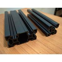 Quality Black Sandblasting Anodized Industrial Aluminium Section Profile For Assembly Line And Production Line for sale
