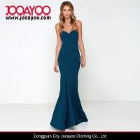 China Women Latest Dress Design Pure Color Strapless Bodycon Maxi Cocktail / Prom Dress on sale