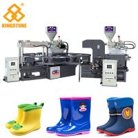 Buy cheap PVC Short Boot Shoe Factory Production Line , Rotary Injection Molding Machine from wholesalers