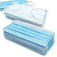 Quality Anti Germs Disposable Surgical Mask , 3 Ply Disposable Blue Earloop Face Mask for sale