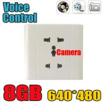 Quality Home Security Wall Socket Outlet DVR Spy Hidden Camera Surveillance Audio Video Recorder for sale