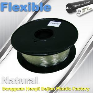 Quality Transparent Rubber Flexible 3D Printer Filament Consumables 1.75mm  / 3.0 mm for sale