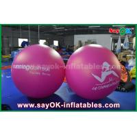 Quality Giant 2m DIA PVC Red Inflatable Balloon Outdoor Advertising Inflatable Helium Balloon for sale