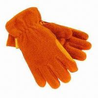 Quality Polar Fleece Gloves with 280g/m² Anti-piling Quality, Made of 100% Polyester Material for sale