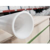 Quality Industrial Grade White Moulded PTFE Tube / 100% Virgin PTFE Pipe Smooth Surface for sale