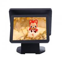 Black Color Dual Screen Retail Epos Systems Aluminium Alloy Housing For Small Business