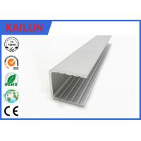Quality Powder Coating Aluminium U Channel Extrusion Profiles For Building Curtain Glass Wall for sale