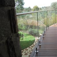 Buy cheap Australia Standard stainless steel balcony railing with tempered glass from wholesalers