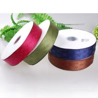 China Thick Plate Plastisol Printed Satin Ribbon Durable For Fragrance Packaging on sale