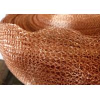 Quality Purple Copper Wire Mesh Customized 4 Line Wire Knitted Netting 10cm Width for sale