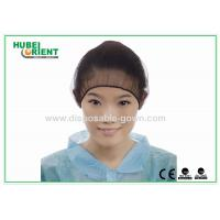Quality Black Nylon Hairnet Disposable Head Cap Comfortable Breathable Snood for sale