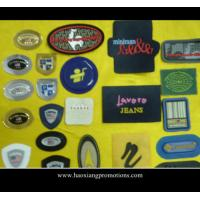 Quality Promotional 3D rubber label patch/soft pvc clothing logo badge for sale