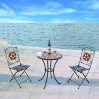 Quality Three-piece Patented Mosaic Outdoor Bistro Set, Easy to Assemble for sale