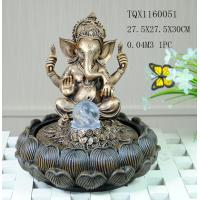 Quality Indian Polyresin Water Fountain With Revolving Ball , Electricity Pump Power for sale