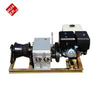 China 3t gasoline engine powered winch used for the cable pulling on sale
