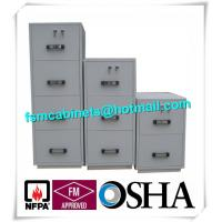 Quality Steel 4 Drawers Fire Resistant File Cabinets , Fireproof File Cabinets For Documents for sale