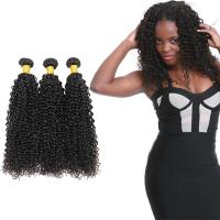 Quality 100 Unprocessed Virgin Curly Hair Bundles Natural Hair Line No Shedding for sale