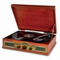 China Antique Turntable Player with AM/FM Radio, Aux In/Output Jack and Auto-return on sale