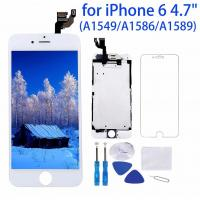 Quality 1334x750P Iphone 6 White LCD Screen High Durability Capacitive Touch Type for sale