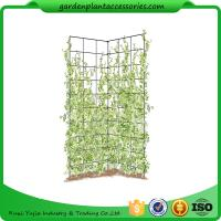 """Quality Two Panel Folding Screen Trellis , Garden Trellis Plant Support 35-1/2"""" W x 58"""" H overall  Powder-coated steel for sale"""