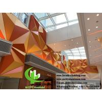 Quality Folded 3D Aluminum Facade Panels , Aluminum Curtain Wall 600x1200mm Size for sale