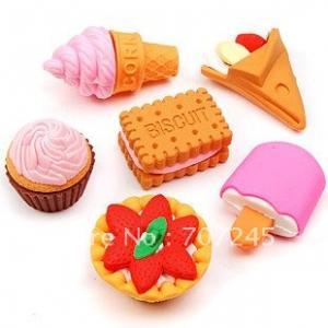 finger erasers at factory price& 3D shapes& fancy design