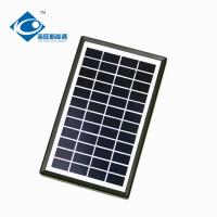 China 3W 12V Solar Photovoltaic Panels for portable solar charger ZW-3W-12V Glass Laminated Solar Panel for sale