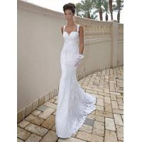 Quality Mermaid Low back Beach wedding dress Bridal gown#dq4508 for sale