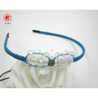 China Unique Knitting Crystal Baby Bow Hair Bands Handmade Hair accessories for Girls on sale