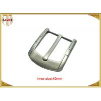 Quality Simple Custom Gunmetal Plating Metal Belt Buckle for Men 40MM Pin Style for sale