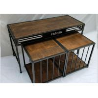 Quality Promotion Wood Veneer Retail CLothes Display Stand , Display Nesting Tables For Shoes / Clothing / Suitbag for sale