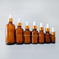 Quality 5ml-100ml essential oil Bottles/empty green glass bottles with dropper cap from Hebei Shengxiang for sale