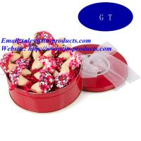Quality Beautiful and Lovely Promotion Biscuit Tin Box, Metal Biscuit Can, Biscuit Box in China for sale