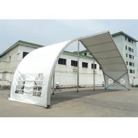 20m High Peak Peach Shaped Clear Span Tent Aluminum Frame Structure Material for sale
