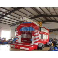 Quality Fire Truck bouncy castle/Fire Station Bounce House for sale