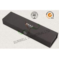 Quality Luxury Black Color Office Paper Box , Spot UV Coating Cardboard Packing Box for sale