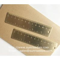Solid brass bookmark ruler with graduation, vintage brass mini ruler with scale mark for sale
