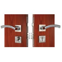 Buy Chrome Lever Handle On Rose Mortise Lockset Replacement Zinc Alloy at wholesale prices