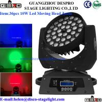Quality 36pcs led moving head light wash Zoom for sale